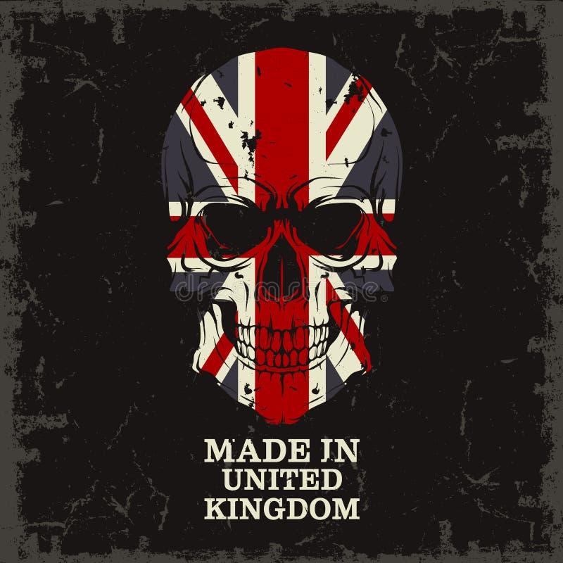 Czaszka kolor flaga royalty ilustracja