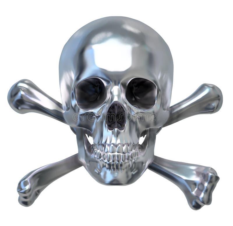 czaszka metalicznej ilustracja wektor