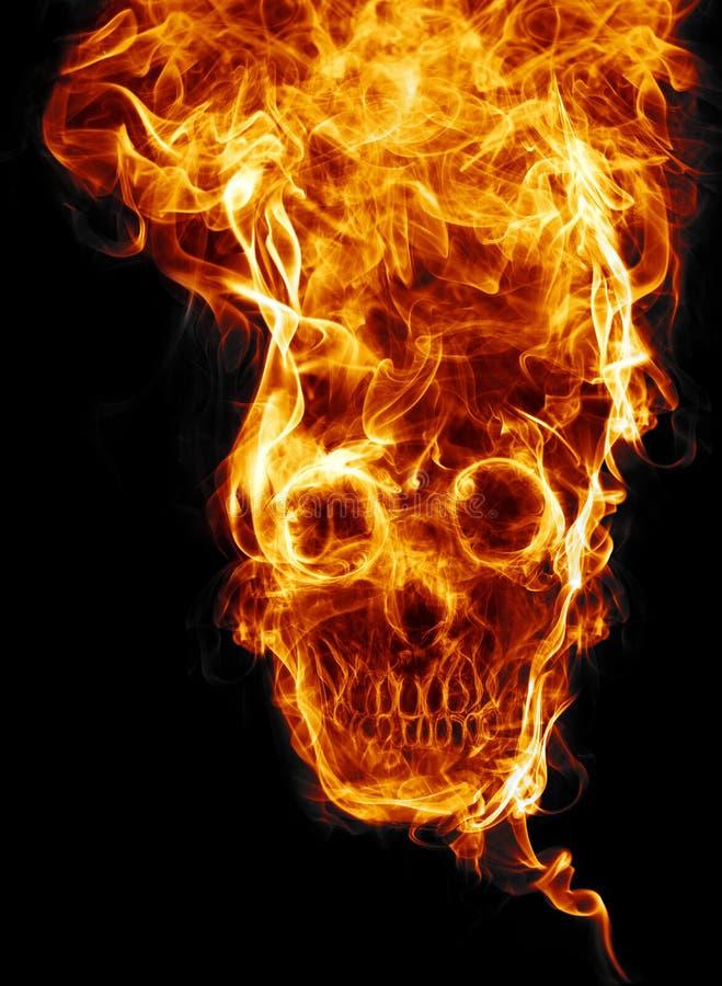 Czaszka ogień ilustracja wektor