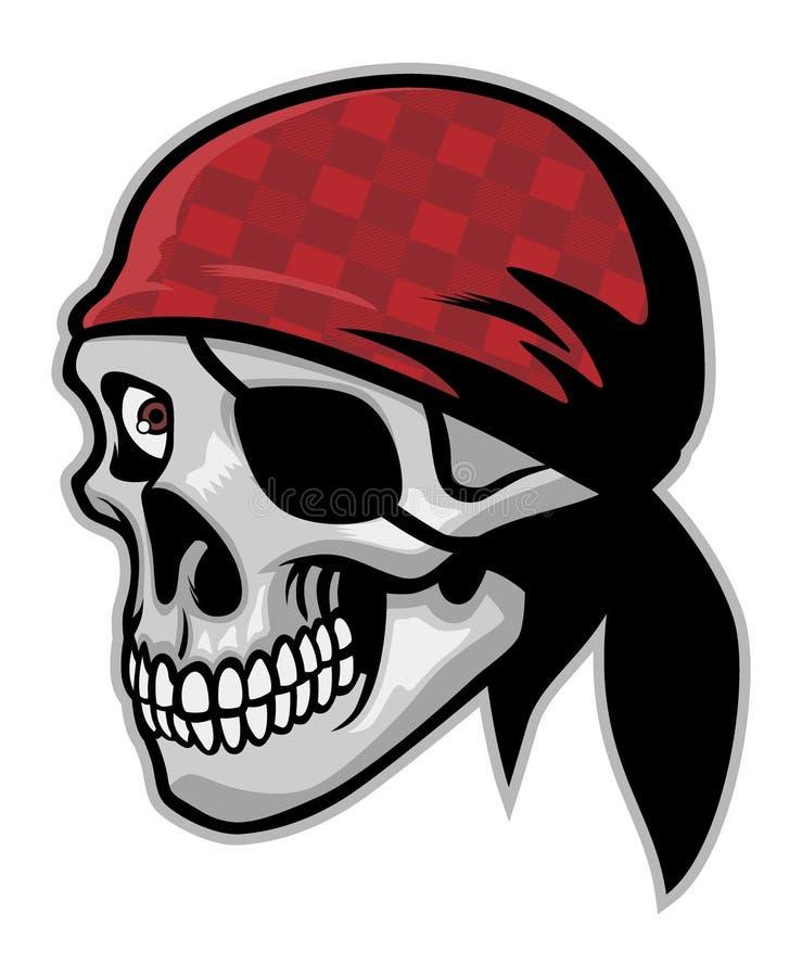 Czaszka pirat ilustracji