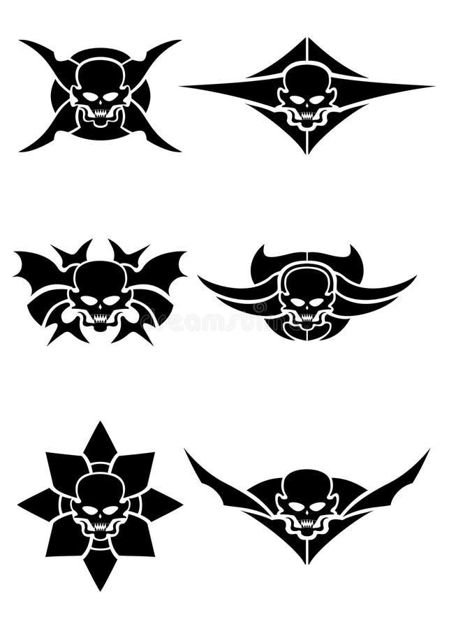 Czaszka plemienny tatuaż ilustracji