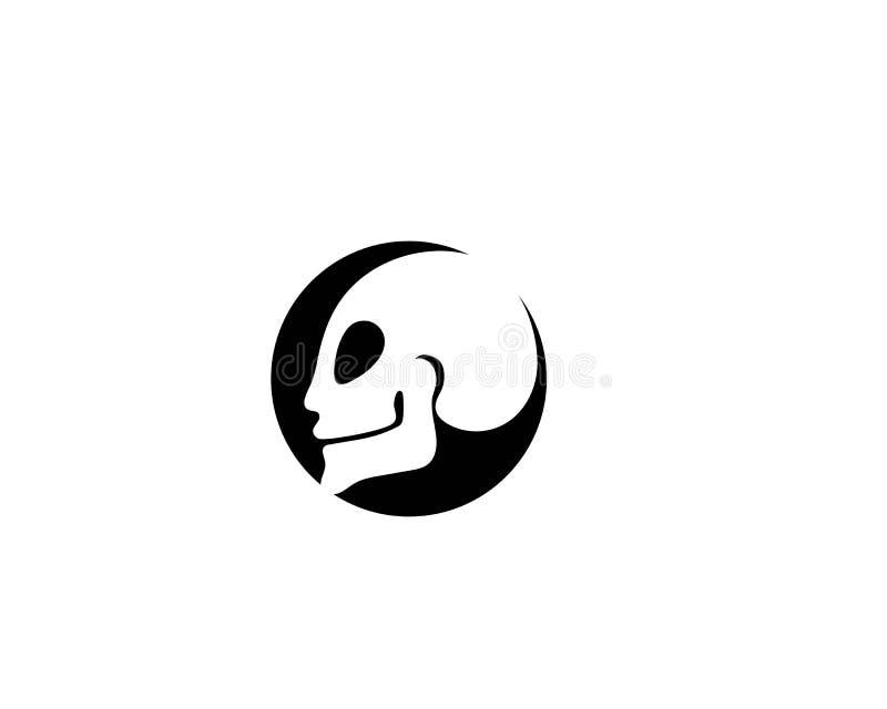Czaszka symbolu i logo kierowniczy wektory ilustracja wektor