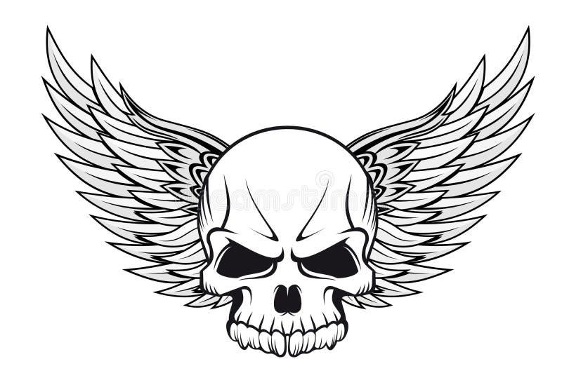 czaszka tatuaż ilustracji