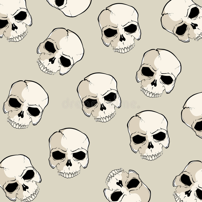 czaszka wzoru ilustracji