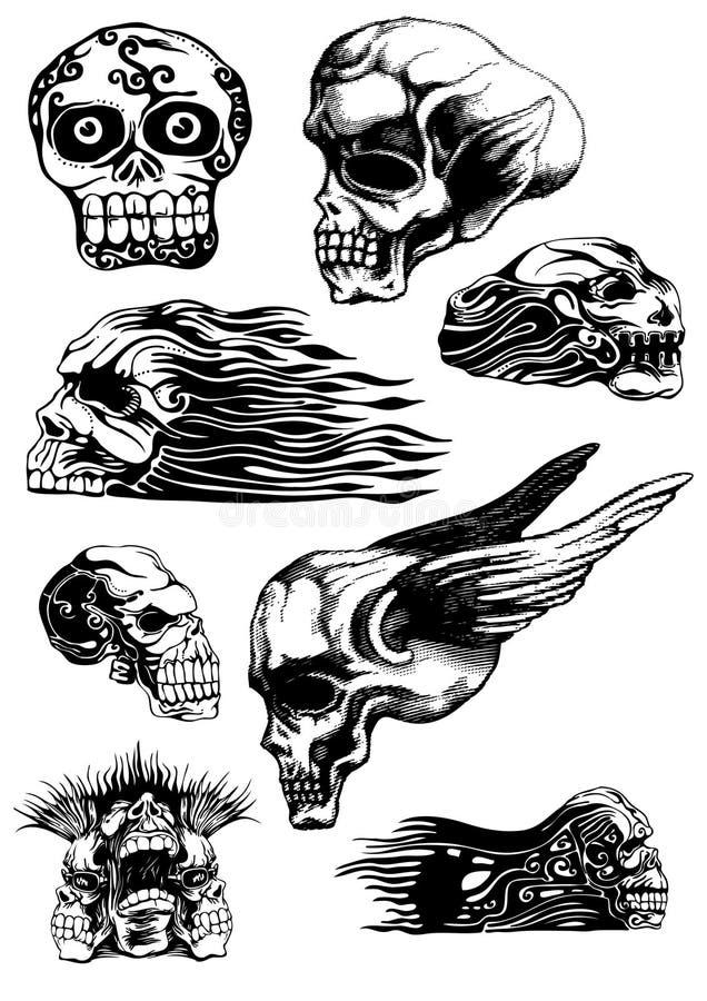 czaszki ilustracja wektor