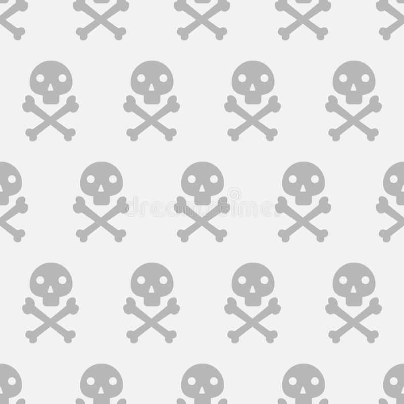 Czaszki i kości wzór zdjęcia stock