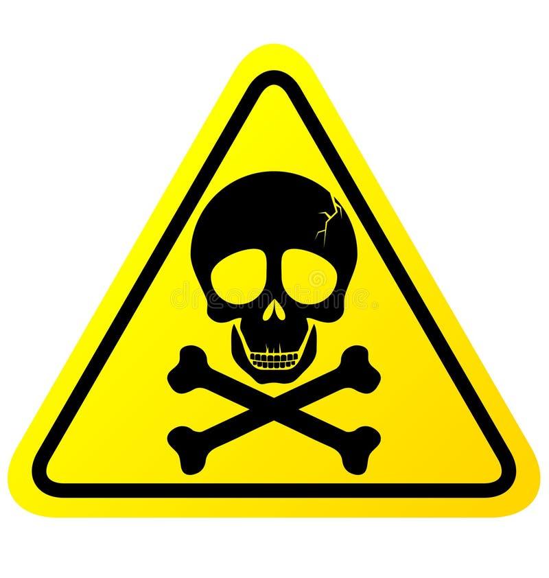 Czaszki niebezpieczeństwa znak ilustracji