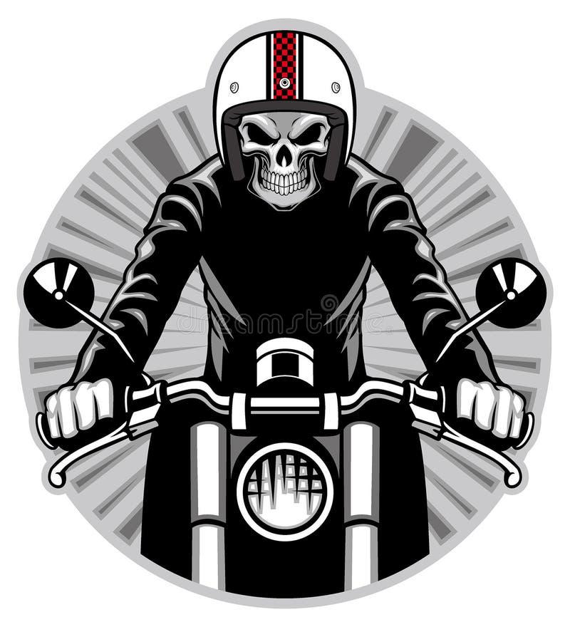 Czaszki przejażdżka motocykl ilustracja wektor