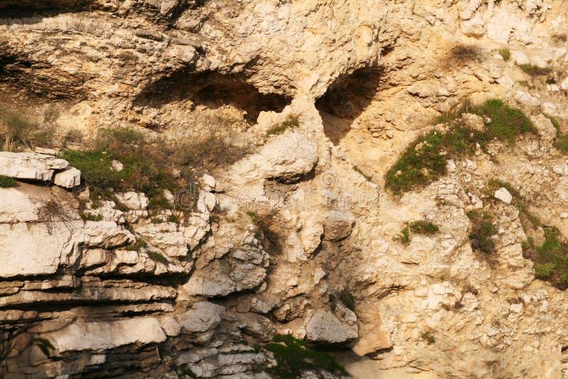 Czaszki Rockowa formacja w Jerozolima, Izrael obraz stock
