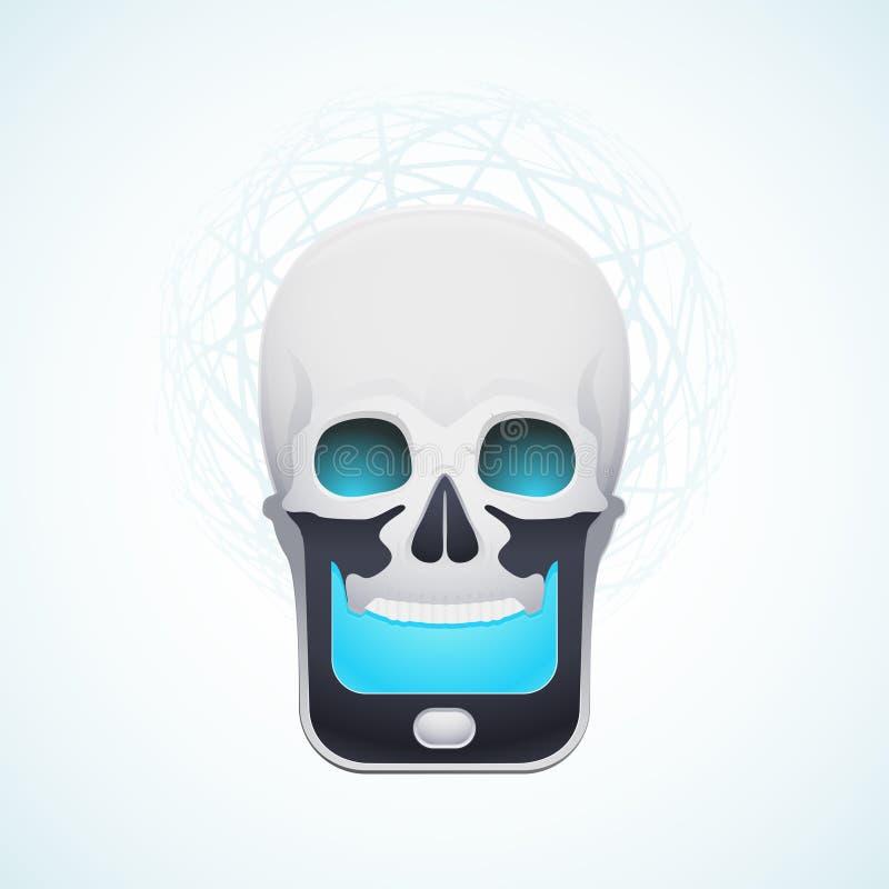 Czaszki telefon komórkowy ilustracji