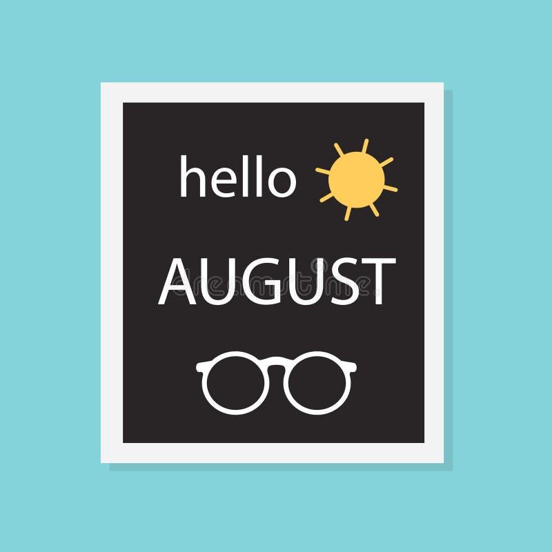 Cześć august pojęcie ilustracja wektor