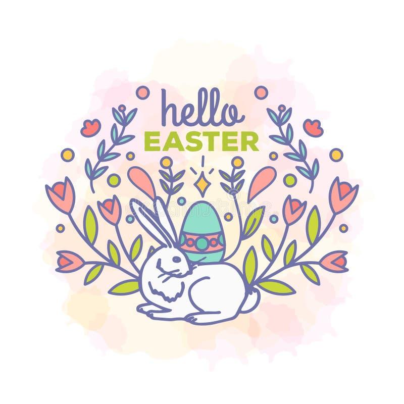 Cześć Easter karciany projekt ilustracji