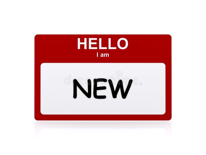 Cześć I ` m nowy znak royalty ilustracja
