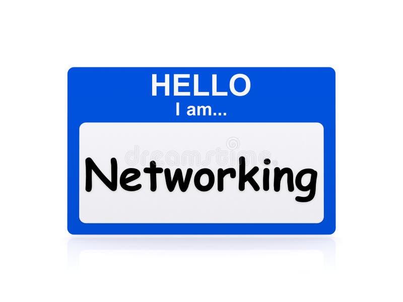 Cześć jestem networking fotografia royalty free