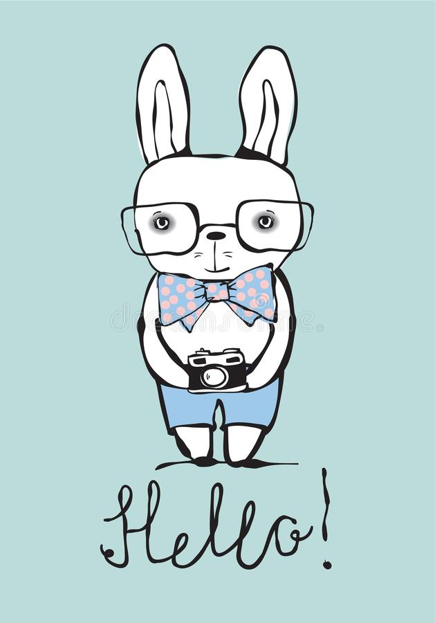 Cześć, królik ilustracji