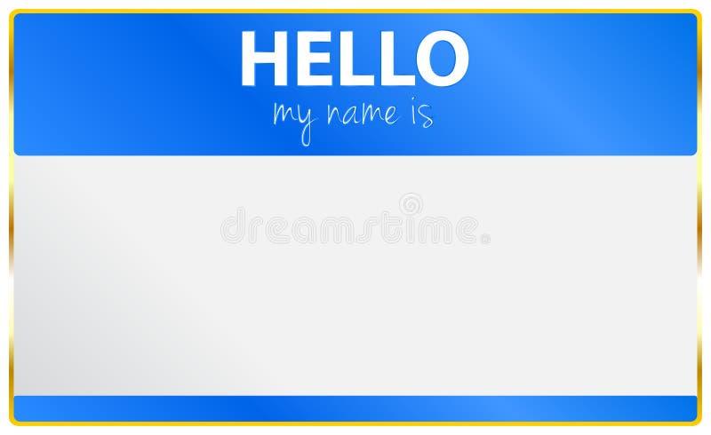 Cześć Mój imię Jest Karciany ilustracja wektor