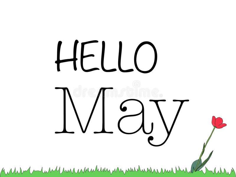 Cześć May ilustracji