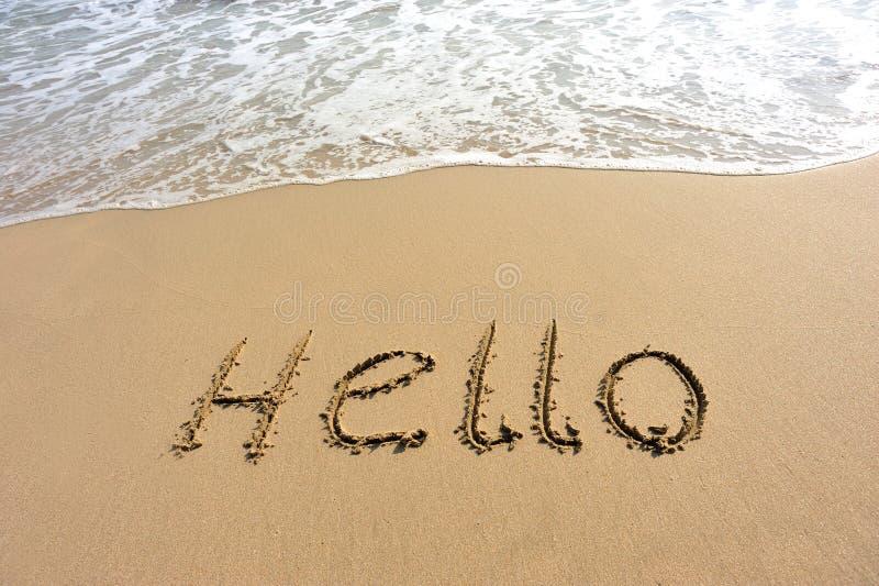 Cześć rysujący na plaży zdjęcia royalty free