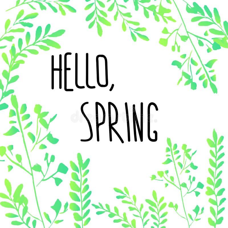 Cześć wiosna ilustracji