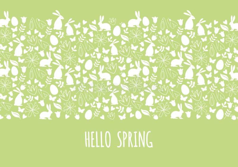 Cześć wiosna, Wielkanocny sztandar, wektor