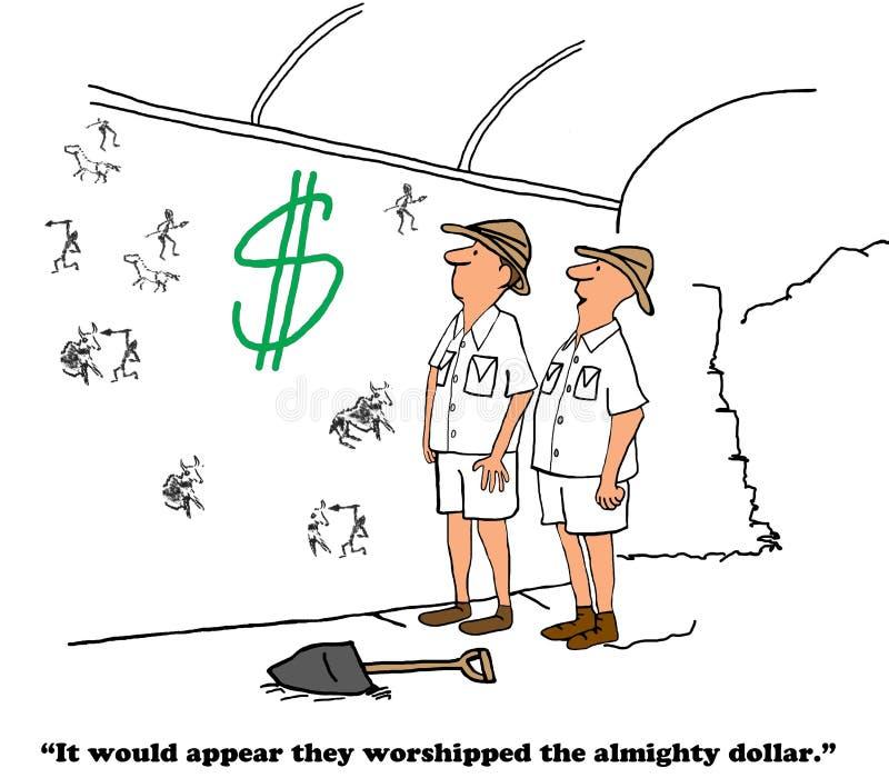 Cześć Wszechmocny dolar royalty ilustracja