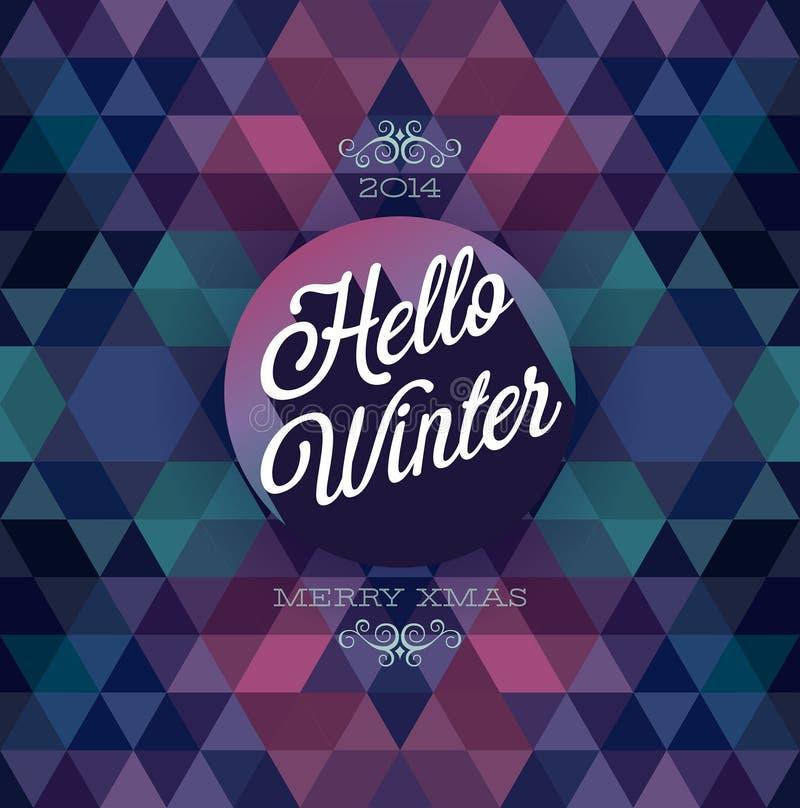 Cześć zima plakat. ilustracja wektor