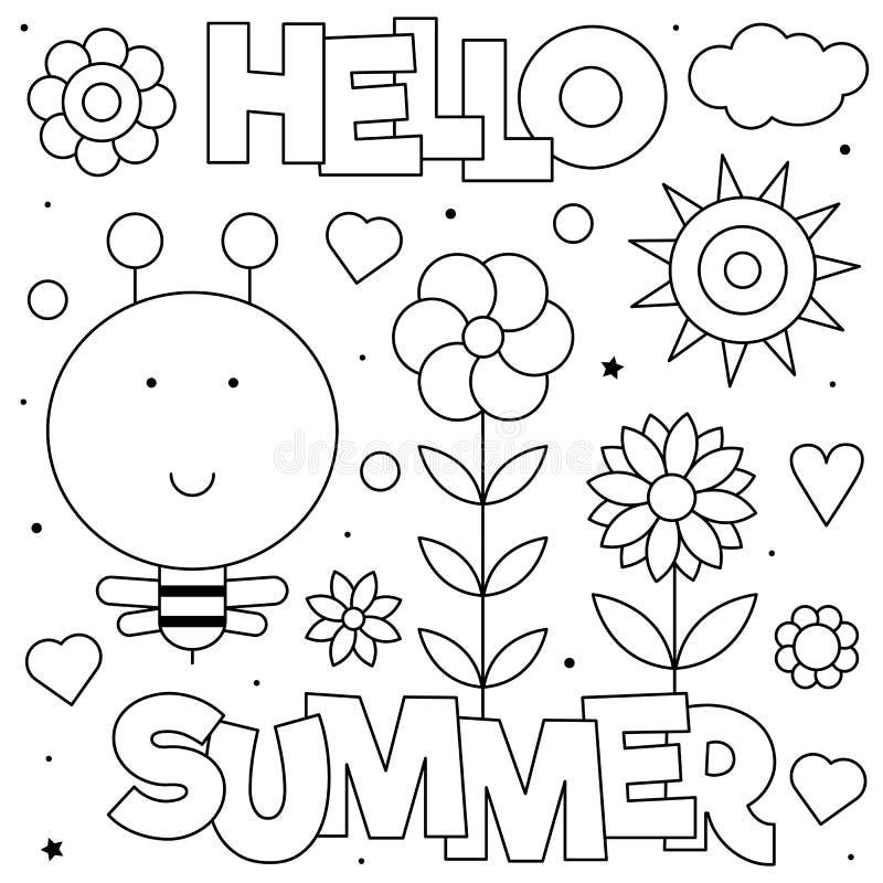 Cze?? lato Barwi? stron? r?wnie? zwr?ci? corel ilustracji wektora Słońce, pszczoła, kwitnie obraz royalty free