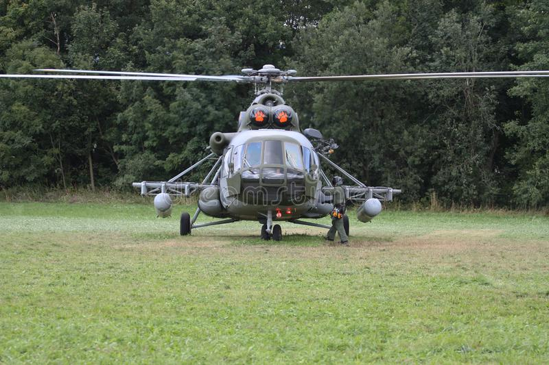 Czech Air Force Mil Mi-17 transport helicopter royalty free stock images