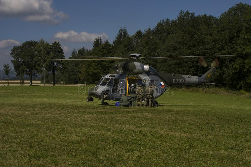 Czech Air Force W-3A SOKOL multipurpose helicopter stock photos