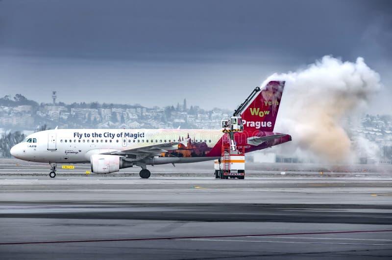 Czech Airlines Airbus A319 aeroplano all'aeroporto di Stoccarda fotografia stock