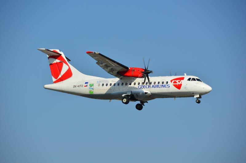 Czech Airlines hebluje obraz royalty free