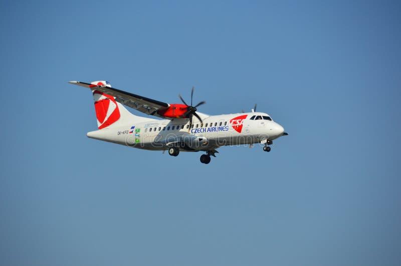 Czech Airlines hebluje zdjęcie stock