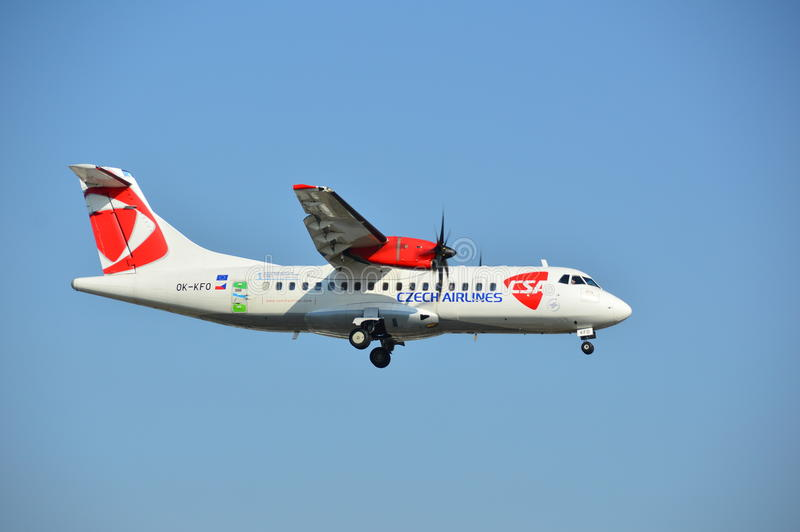 Czech Airlines hebluje zdjęcie royalty free