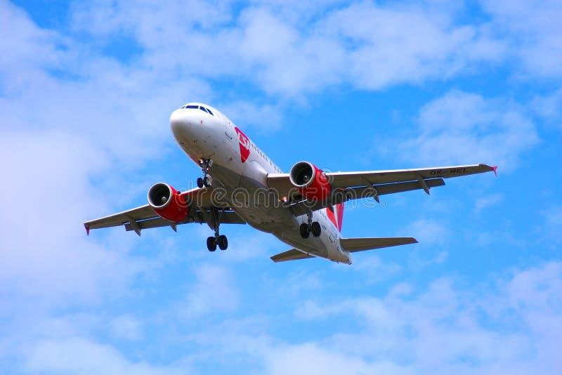 Czech Airlines w powietrzu zdjęcie royalty free