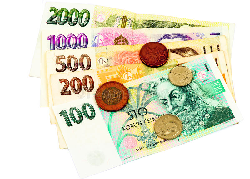 Czech banknotes royalty free stock photos