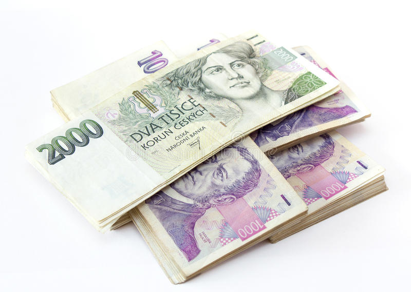Download Czech banknotes stock image. Image of bill, earnings - 24393033