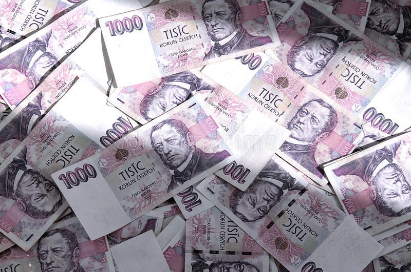 Czech banknotes royalty free stock image