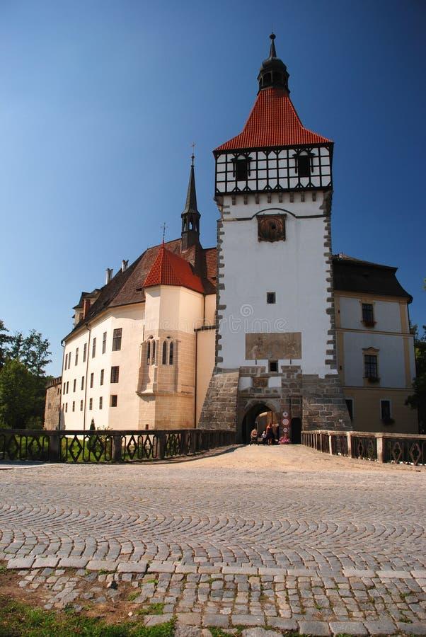 Czech castle Blatna stock photos