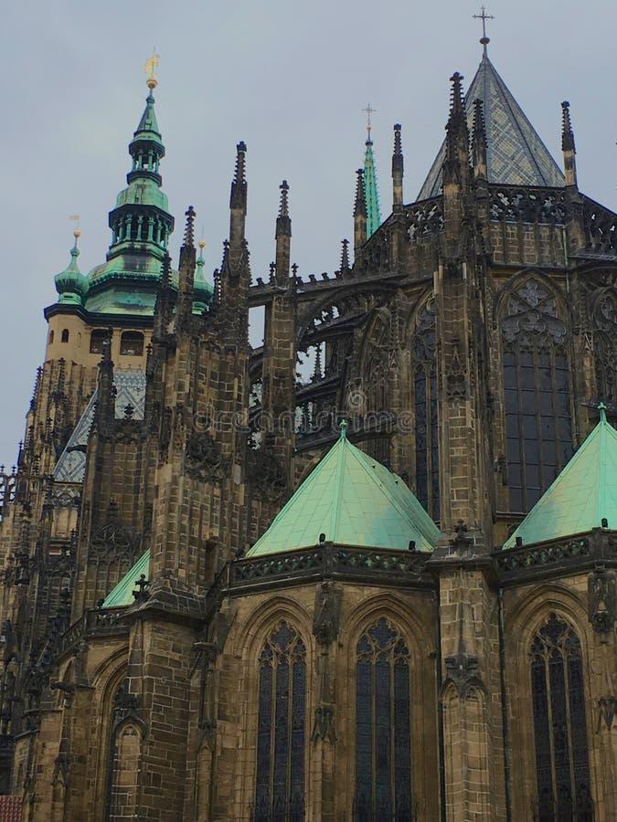 Czech church on a rainy day royalty free stock photos