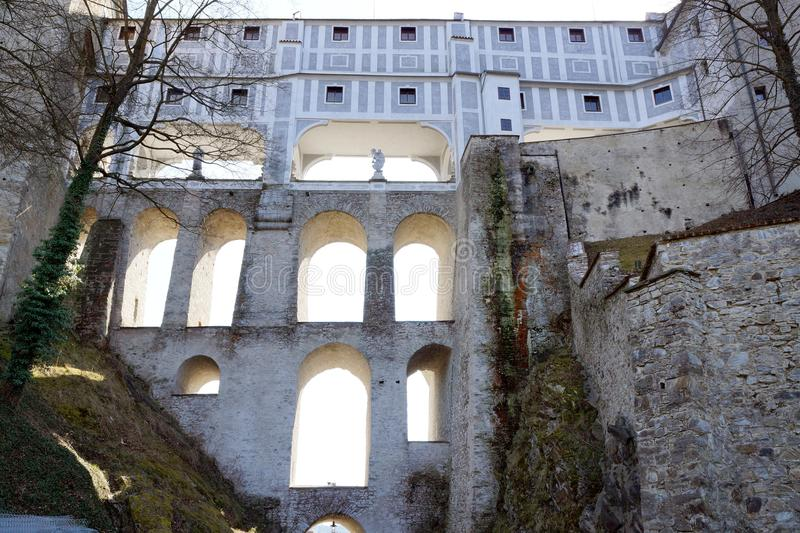 Czech Crumlaw. Český Krumlov translated sometimes to Czech Crumlaw, is a small city in the South Bohemian Region of the Czech Republic stock image