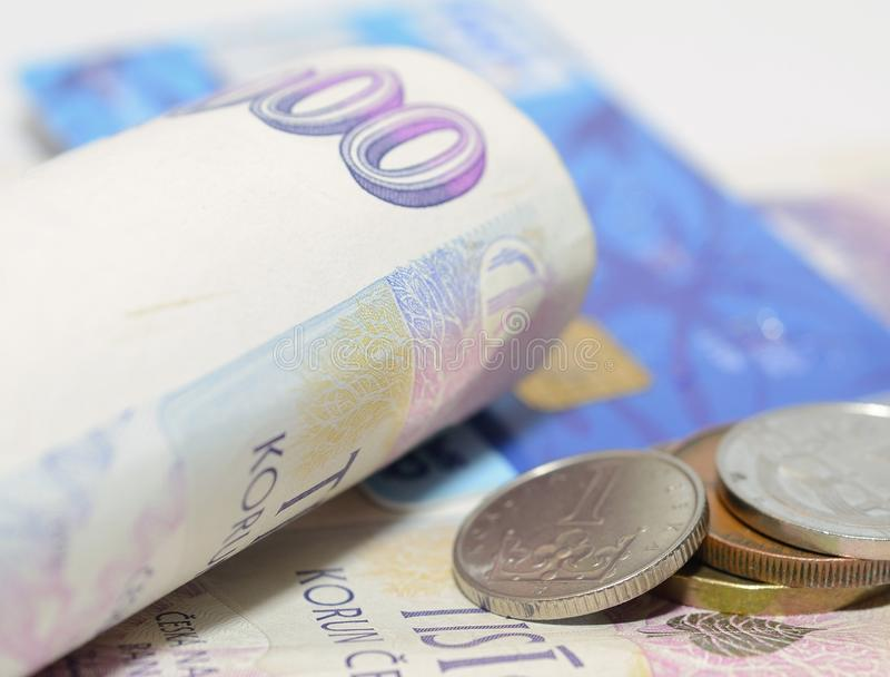 Czech currency royalty free stock image