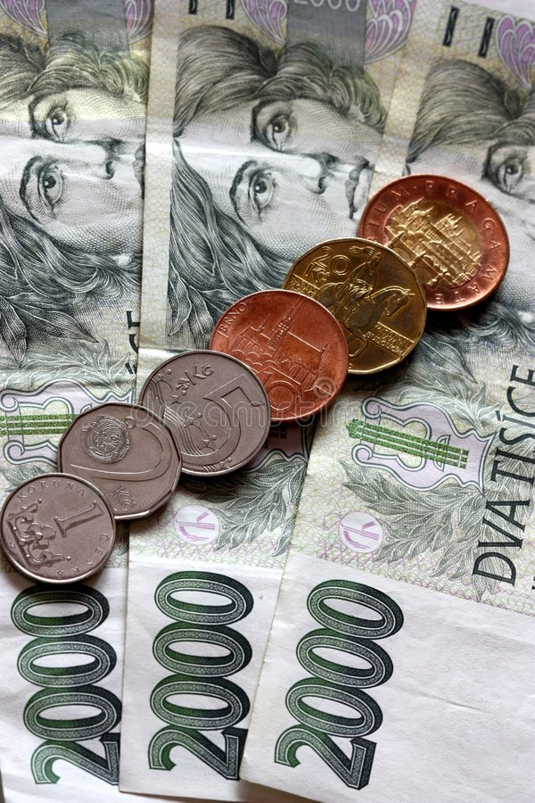 Czech currency stock photos