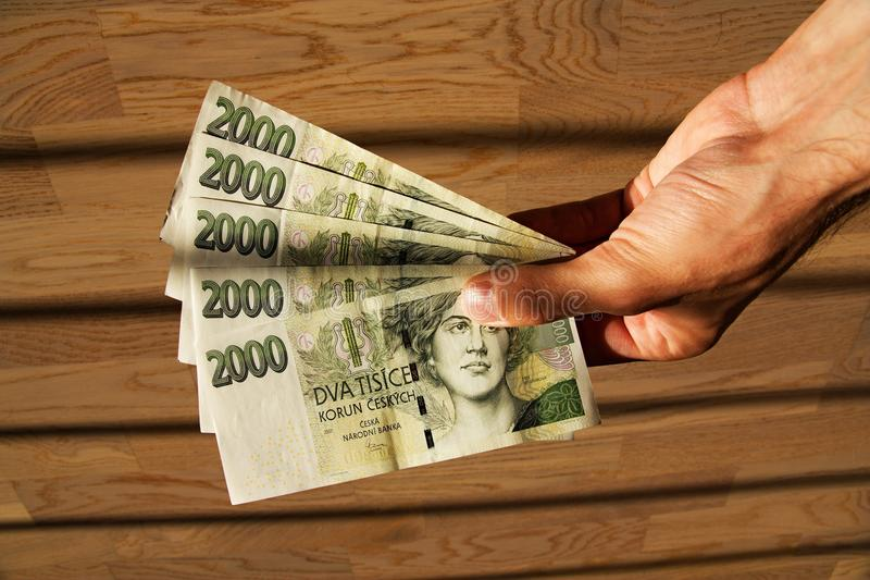Czech currency stock images