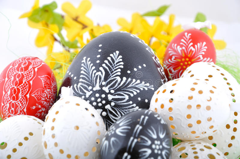 Czech easter eggs royalty free stock images