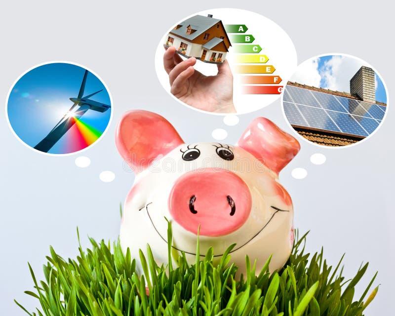 Czech economy and finance - piggy bank and - piggy bank dreams a stock photos