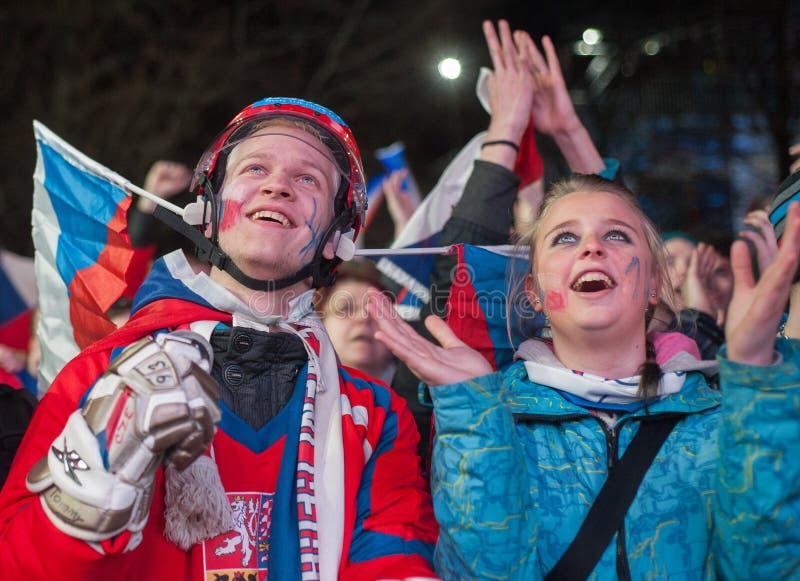 Czech fans stock photos