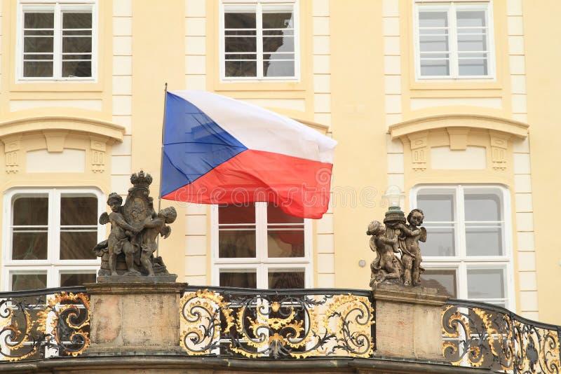 Czech flag royalty free stock photos