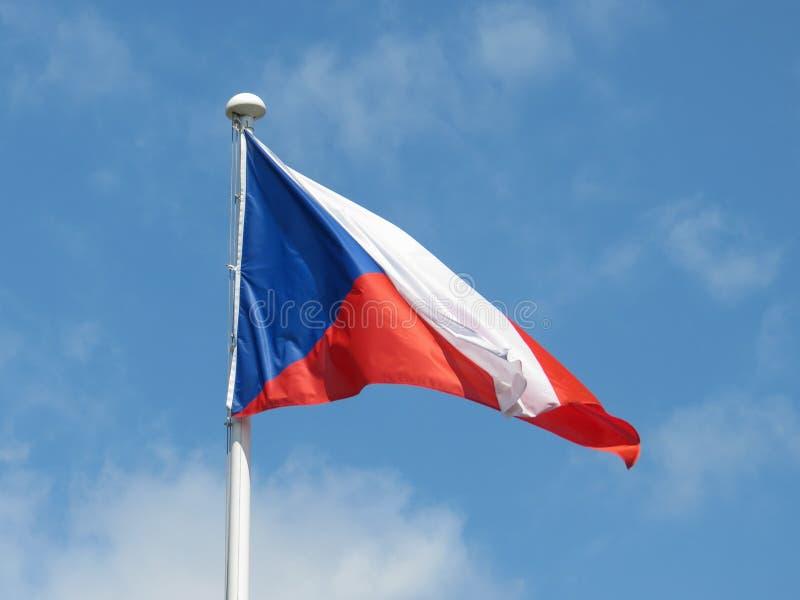 Czech flaga republika czech zdjęcie stock