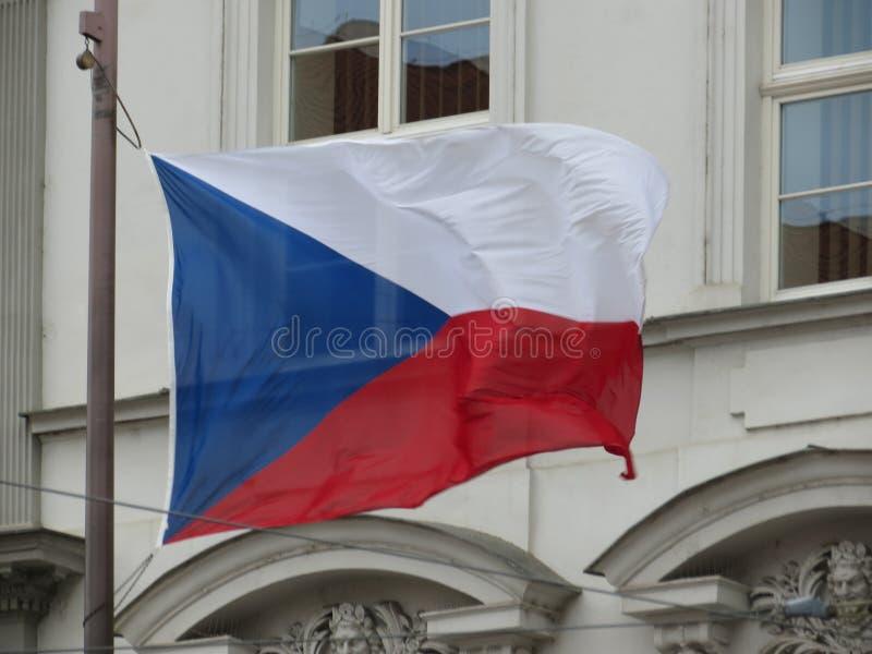 Czech flaga republika czech fotografia stock