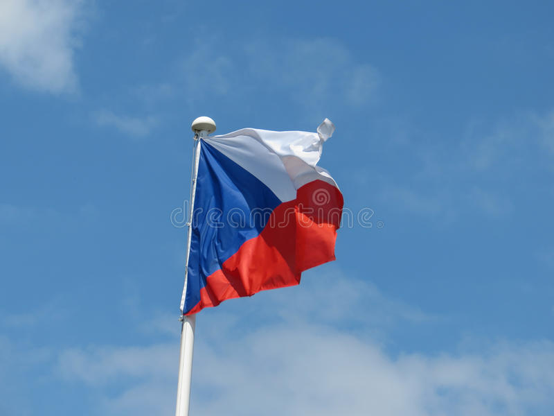 Czech flaga republika czech fotografia royalty free